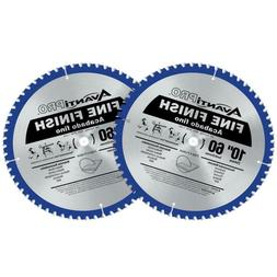 10 in. x 60-Tooth Fine Finish Saw Blade 2-Pack Plywood Hardw