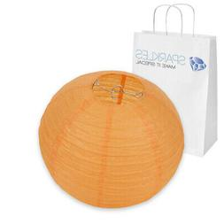 "10"" inch Chinese Paper Lantern - Orange - Wedding Party Even"