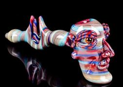 """10"""" Inch Cool Bong Stone Face Hammer Glass Water Pipe Bubble"""