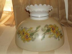 10 Inch fitter Floral Flowers Glass  Lamp Shade - Ruffled To