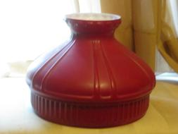 10 Inch fitter Red Glass Student Lamp Shade Coleman Aladdin