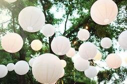 10 Inch White Circle Round Paper Lantern Lamp Shade Party Ha