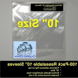 """100 x RESEALABLE 10"""" record bags, 10 INCH size, delivery in"""