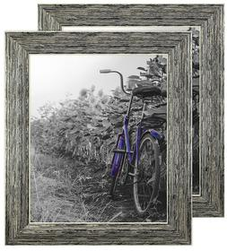 2 pack 8x10 inch tan rustic picture