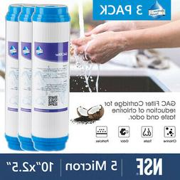 3 Pack Granular Activated Carbon Water Filter Big Blue GAC R