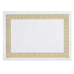Hoffmaster 310640 Placemat, Greek Key Straight Edge, Square