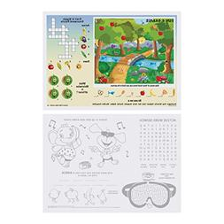 """Hoffmaster 310693 Fun Games 2-Sided Placemat, 10"""" Length x 1"""