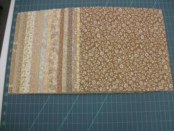 34 Assorted Creams 10 Inch Squares  Quilting Fabric Layer Ca