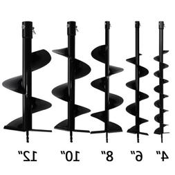 """4"""" 6"""" 8"""" 10"""" 12"""" Earth Auger Drill Bits for Gas Powered Post"""