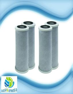 4-Pack 10 inch Carbon Block Filter Replacement - Compatible