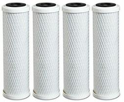 4-Pack Universal 10 Inch Carbon Block Filter Cartridge for W