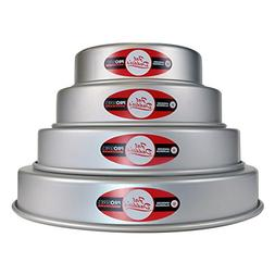 """Fat Daddios Fat Daddio's 4 Tier 6"""", 8"""", 10"""" and 12"""" Round Pa"""
