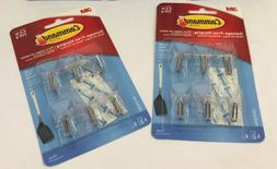 3M Command #17067CLR Damage-Free Small Wire Hooks, Clear Ho