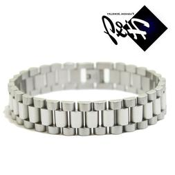 "7.5""--10""MEN's Stainless Steel 10mm/15mm Silver Watch Band L"