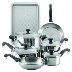 Farberware 70217 Classic Traditions Cookware Set, Large, Sta
