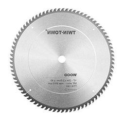 TWIN-TOWN 10-Inch Saw Blade, 80 Teeth,General Purpose for So