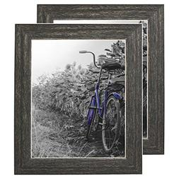Americanflat 2 Pack - 8x10 Barnwood Rustic Picture Frames wi