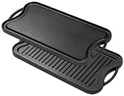 Bruntmor, Pre-Seasoned Cast Iron Reversible Grill/Griddle Pa