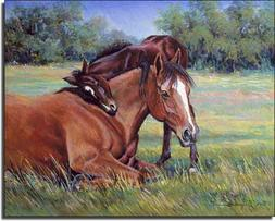 A Shoulder to Lean On by Marsha McDonald - Horse Equine Cera