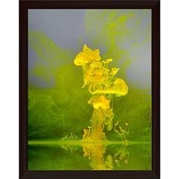 ArtzFolio Abstract Floating Yellow Color Canvas Painting Dar