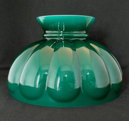 ALADDIN LAMP GREEN MELON SHADE PART # M570 CASED GLASS 10 in