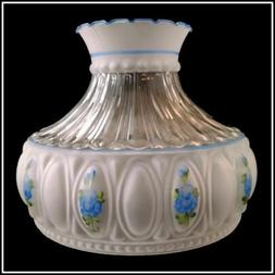 ALADDIN LAMP M750 STYLE BLUE ROSES LAMP 10 inch HAND PAINTED