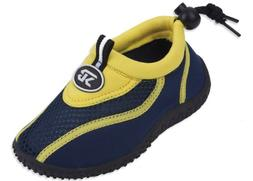 Starbay Brand Kid's Yellow & Navy Athletic Water Shoes Aqua