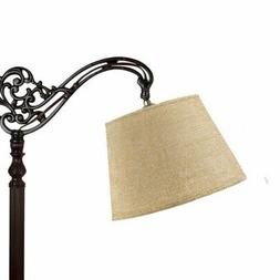 Beige Burlap 10 Inch European Drum Lampshade with Uno Fitter