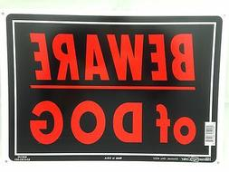 "Beware Of Dog Sign 10""x14"" Sturdy Aluminum Metal Signs Red L"