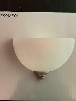 "Brushed Nickel Wall Sconce 10"" Inch W 1-Light Living Room Be"