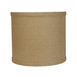 Urbanest Burlap Drum Lamp Shade, 10-inch By 10-inch By 10-in