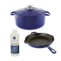 Chantal Cast Iron Enamel 10-Inch Skillet with Dutch Oven and