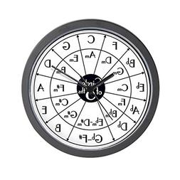 "CafePress - Circle of Fifths - Unique Decorative 10"" Wall Cl"