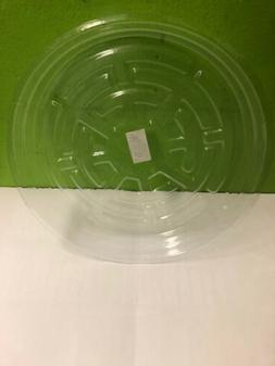 "CLEAR 10"" inch SAUCER  Reuseable Sturdy Plant Pot Tray Pan"