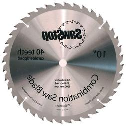 SawStop CNS-07-148 40-Tooth Combination Table Saw Blade, 10-