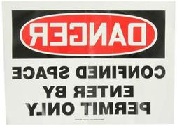 confined space safety sign adhesive vinyl 10