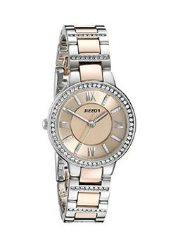Fossil Women's ES3405 Virginia Three-Hand Two-Tone Rose Gold