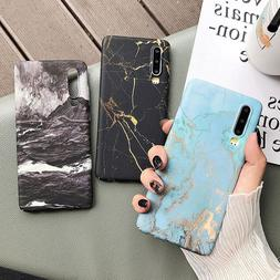 <font><b>Classical</b></font> Cracked Marble Case For Huawei