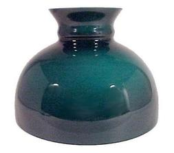 green cased glass 10 inch student lamp