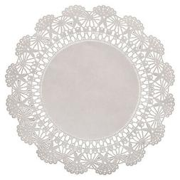 Hoffmaster LA910 Brooklace Lace Doily, 10 Inch Round, White,