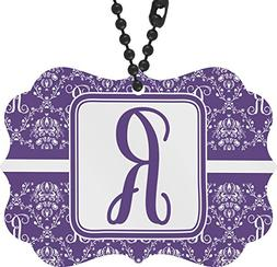 RNK Shops Initial Damask Rear View Mirror Charm