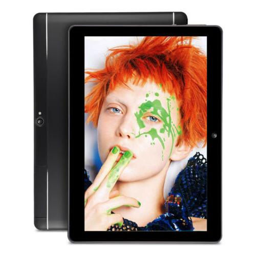10.1 8.1 Tablet PC 64GB WIFI 2 Phablet HD Black