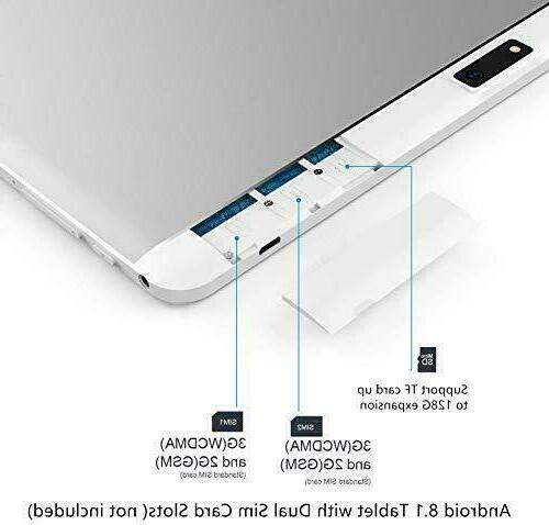 10 Inch Android Android With SIM Card Slots Phone Date Support