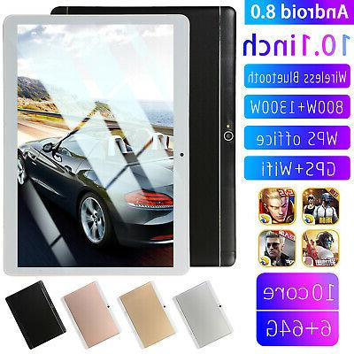 10 Inch Tablet Android 8.0 6+64GB Tablet PC with TF Card Slo
