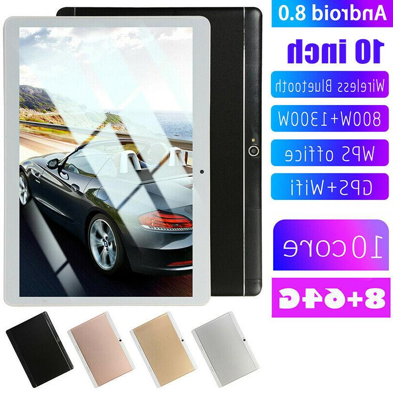 "10"" Inch Tablet PC Android HD Octa-Core Camera GPS"