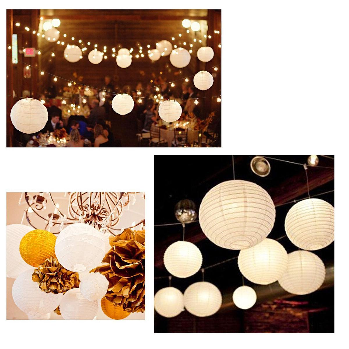 10 Inch White Paper Lamp Wedding Party of