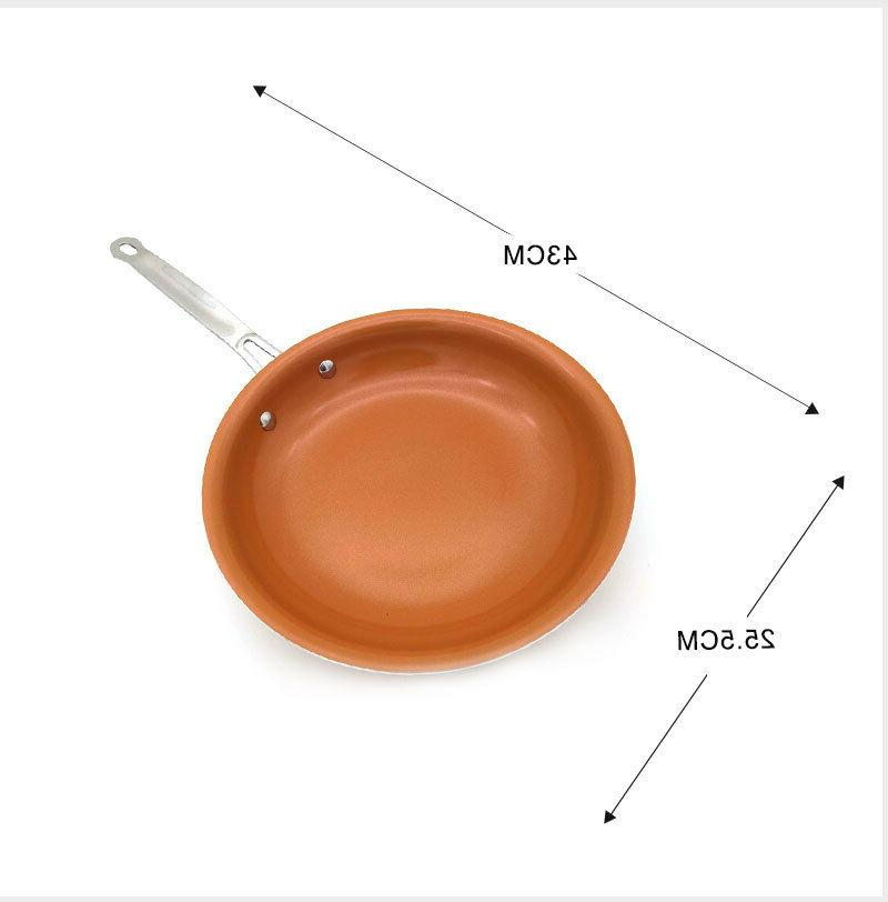 10 Inches Copper Frying Pan Cookware Titanium Pans