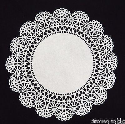 "100 Ct. 10"" inch ROUND FRILLY PAPER LACE WHITE DOILIES 