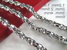 "16""-36"" Mens Womens Stainless Steel Diamond Cut Rope Chains"
