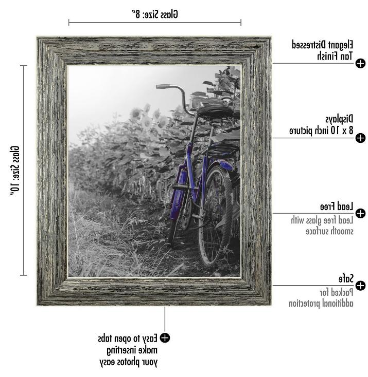 2-Pack, Rustic Picture Frame Easel